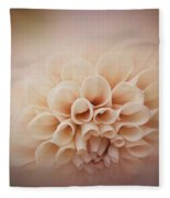 Soft, Subtle Dahlia Fleece Blanket