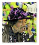 Sonic Exploration - A Jimi Hendrix Portrait Fleece Blanket