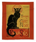 Soon, The Black Cat Tour By Rodolphe Salis - Digital Remastered Edition Fleece Blanket