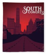 South Congress Avenue Fleece Blanket
