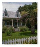 Southern Coastal Tin Roof Cottage Fleece Blanket