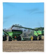 Soybean Harvest Max Fleece Blanket