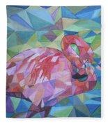 Sparkling Flamingo Fleece Blanket