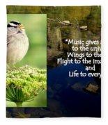 Sparrows Music Fleece Blanket