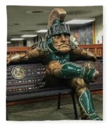 Sparty At Rest Fleece Blanket
