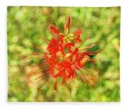 Spider Lily Pop Fleece Blanket