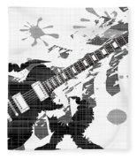 Splatter Guitar Fleece Blanket