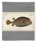 Spotted Trunk Fish  Fleece Blanket