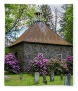 Spring At The Crispell Memorial French Church Fleece Blanket