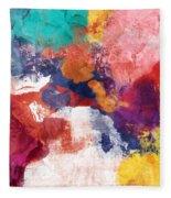 Spring Crush 3- Abstract Art By Linda Woods Fleece Blanket