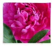 Spring Dahlia Fleece Blanket