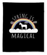 Spring Is Magical Fleece Blanket