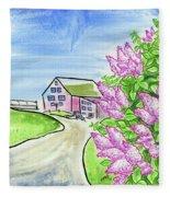 Spring Lilac Fleece Blanket
