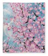 Spring Pink Fleece Blanket