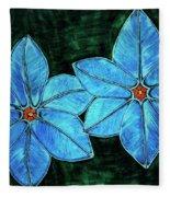 Spring Star Flowers Fleece Blanket