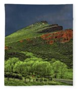 Spring Storm At Milepost 84 Fleece Blanket