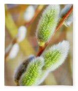 Spring Willow 4 Fleece Blanket
