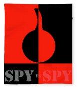 Spy Vs Spy Fleece Blanket