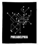 Square Philadelphia Subway Map Fleece Blanket
