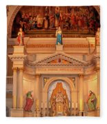 St. Louis Cathedral Altar New Orleans Fleece Blanket