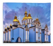 St. Michael's Golden-domed Monastery Fleece Blanket