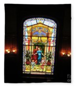Stained Glass At Moody Mansion Fleece Blanket