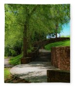 Stairway To Carlyle Fleece Blanket