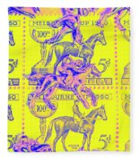 Stamps And Stallions Fleece Blanket