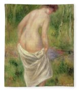 Standing Nude In A Landscape, 1914 Fleece Blanket