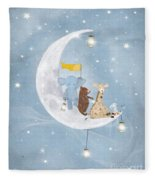Starlight Wishes With You  Fleece Blanket