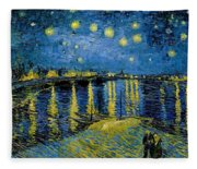 Starry Night - Digital Remastered Edition Fleece Blanket