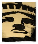 Statue Of Liberty In Dark Sepia Fleece Blanket
