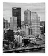 Steel City Skyline Fleece Blanket
