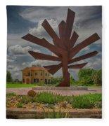 Steel Palm - Peace River Botanical And Sculpture Gardens Fleece Blanket