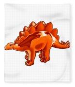 Stegosaurus Cartoon Fleece Blanket