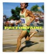 Steve Prefontaine, The Legend, Oregon Ducks Fleece Blanket