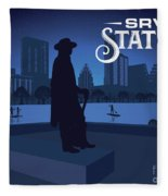 Stevie Ray Vaughan Memorial Statue  Fleece Blanket