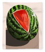 Still Life Watermelon 1 Fleece Blanket