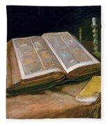 Still Life With Bible - Digital Remastered Edition Fleece Blanket