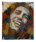 Stir It Up - Retro - Bob Marley Fleece Blanket