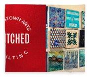 Stitched Quilting Exhibit Fleece Blanket