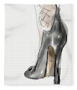 Stockings And Stilettos Fleece Blanket