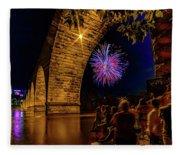 Stone Arch Bridge, July 4 Fleece Blanket