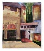Stone Barns Courtyard Fleece Blanket
