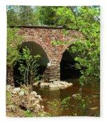 Stone Bridge At The Eastern Entrance Of The Manassas Battlefield  Fleece Blanket