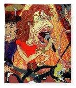 Stones On Stage - The Rolling Stones Fleece Blanket