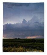 Storm Chasing West South Central Nebraska 048 Fleece Blanket