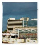 Storm Over Union Station Fleece Blanket