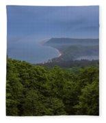 Stormy Day On Sleeping Bear Dunes Fleece Blanket