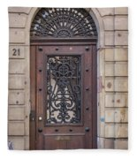 Strasbourg Door 11 Fleece Blanket